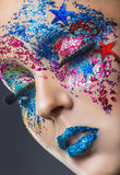 Colourful makeup Royalty Free Stock Photography