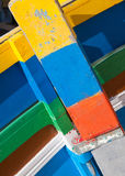 Colourful Maltese boats. Brightly coloured boat detail of Maltese Royalty Free Stock Photo