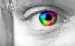 Colourful man's Eye Royalty Free Stock Photography