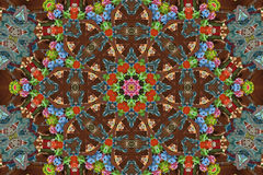Colourful mandala background Royalty Free Stock Photos
