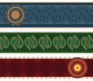Colourful Mandala Banner with Border Stock Image
