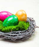 Colourful Marbled Easter Eggs Royalty Free Stock Images