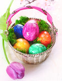 Colourful Marbles Easter Eggs Royalty Free Stock Images