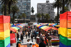 Colourful market day in Montevideo Royalty Free Stock Images