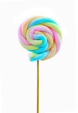 Colourful marshmallow on white background Royalty Free Stock Photo