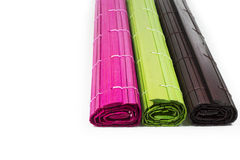 Colourful mat on white Stock Image