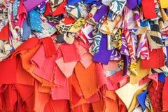 Colourful materiały, Cao Dai Święty Widzią świątynię, Tay Ninh prowincja, Wietnam Fotografia Royalty Free