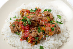 Colourful meatballs Smyrna meal Royalty Free Stock Photography