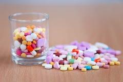 Colourful medicines Stock Photos