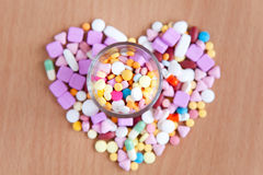 Colourful medicines Royalty Free Stock Images