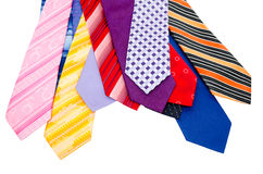 Colourful mens ties Stock Images
