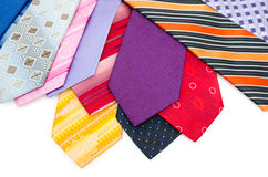 Colourful mens ties Stock Photography