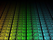 Colourful Merry Christmas text Stock Photo