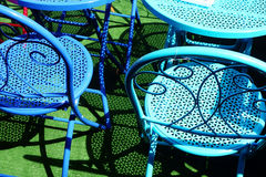 Colourful Metal Outdoor Chairs Royalty Free Stock Image