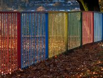 Colourful metal railings Stock Photos
