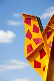 Colourful metal sculpture Royalty Free Stock Photography