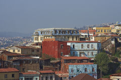 Colourful miasto Valparaiso, Chile Zdjęcia Stock