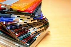 Colourful Mini-Disc. Colourful compact Mini-Disc stock photos