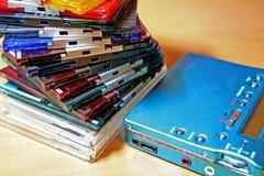 Colourful Mini-Disc. Colourful compact Mini-Disc royalty free stock photos