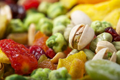 Colourful mix fruits & nuts Royalty Free Stock Photography