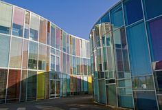 Colourful modern architecture Royalty Free Stock Photo