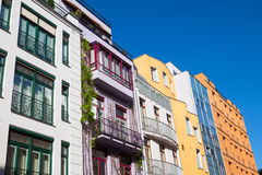 Colourful modern townhouses Stock Image