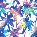 Colourful modny bezszwowy egzota wzór z palmą Nowożytny abstrakcjonistyczny projekt dla papieru, tapety, pokrywy, tkaniny i innyc royalty ilustracja