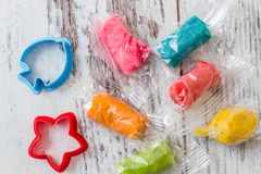 Colourful Molding Dough Royalty Free Stock Images