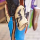 Colourful Moroccan slippers, Marrakesh Stock Photography