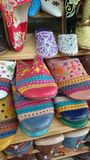 Colourful moroccan slippers Royalty Free Stock Photos