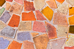 Colourful mosaic floor Stock Photo