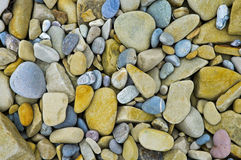 Colourful mosaic of pepple stones Stock Photos