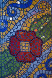 Colourful mosaic. Small tiled pattern background Stock Images