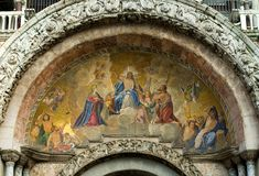 Colourful mosaic, St Mark's Stock Image