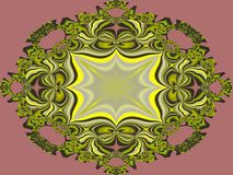 Favourite brooch. Colourful and most ornate looking fractal which any person would like as a brooch, their favourite one perhaps royalty free illustration