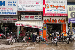 Colourful Motorbike Repair Shops Stock Photos