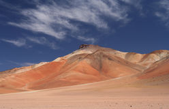 Colourful Mountain. In southern part of bolivian Altiplano royalty free stock photography