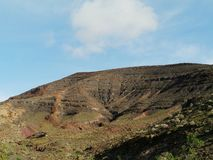 The colourful mountains on the island Fuerteventura Stock Image