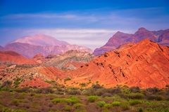 Colourful Mountains in Salta province. Colourful mountains of Quebrada de Humahuaca in Salta Province in Northern Argentina stock image