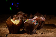 Colourful Muffins Royalty Free Stock Images