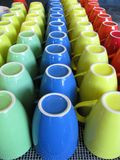 Colourful mugs Stock Image