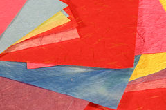 Colourful Mulberry Paper. Various colours of mulberry paper Stock Photo