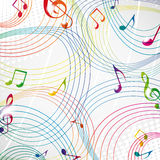Colourful music note on a grey background. Stock Photo