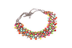 Colourful necklace Stock Images