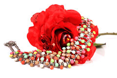 Colourful necklace stock photography