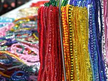 Colourful necklaces Stock Images