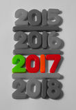 Colourful New Year 2017 Royalty Free Stock Photo