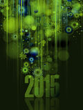 2015 Colourful New Year Wallpaper. 2015 Colourful Graphic New Year Wallpaper Royalty Free Stock Photos