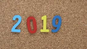 Colourful new year 2019 stock photos