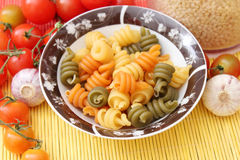 Colourful Noodles Stock Image
